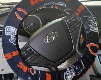 Team Fleece Steering Wheel - Chicago Bears