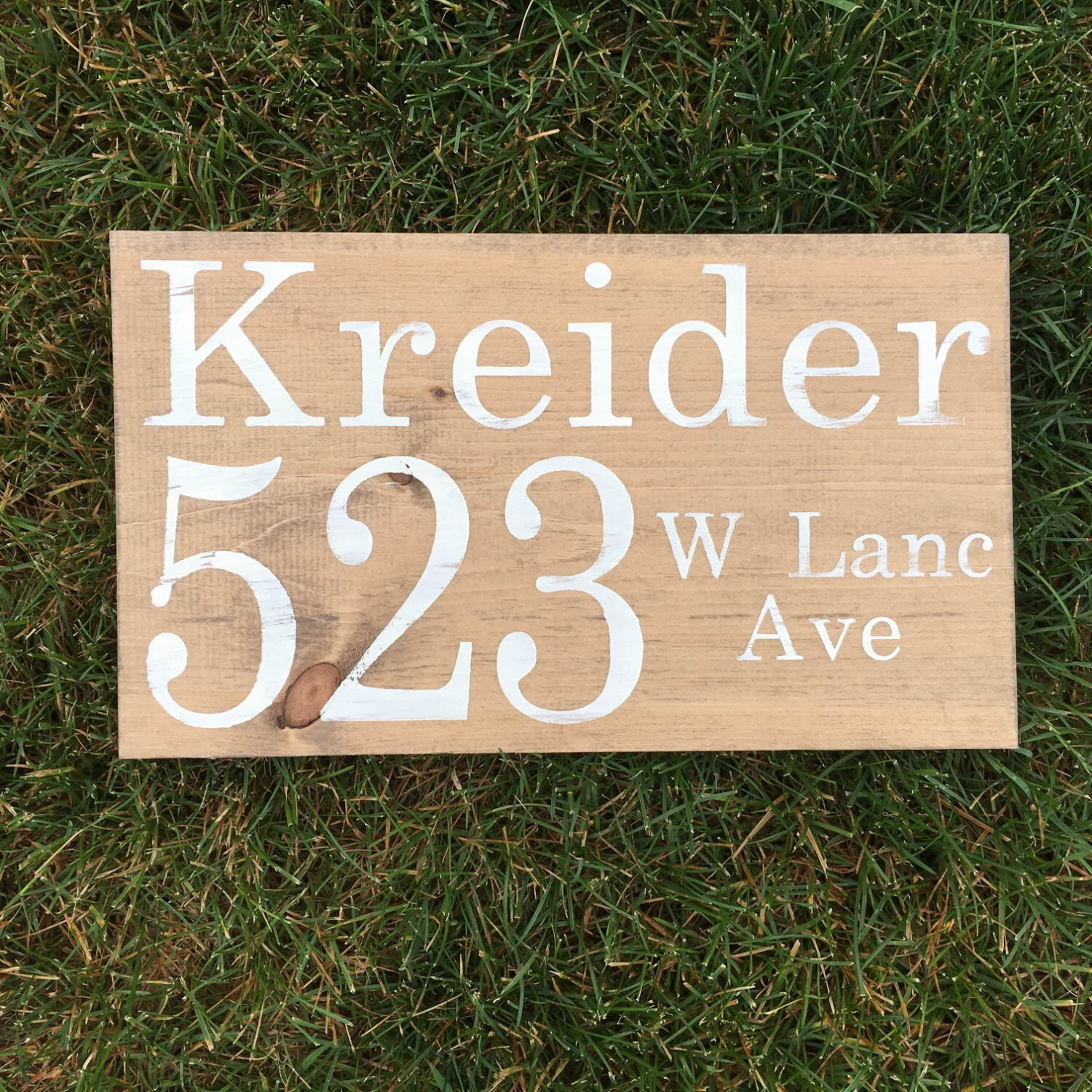 Outdoor address sign wooden sign porch decor address for Outdoor decorative signs