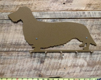 Wirehaired Dachshund Key and Leash Rack