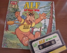 Alf Goes Wild 24 page Read Along Book and Cassette Tape