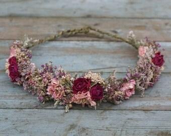 Summer Haze Dried Flowers Half Hair Flower Crown