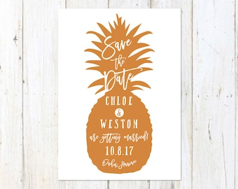 Tropical Save the Date, Pineapple Save the Date, Fun Destination Save the Date