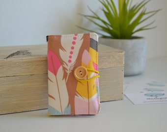 Sale! Business card wallet, coffee card wallet, mini wallet - Feathers in color