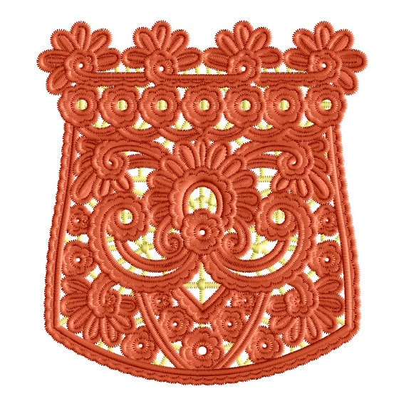 Stand Alone Embroidery Designs : Pocket stand alone lace embroidery machine design