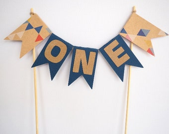 READY TO SHIP! First birthday cake bunting || boys first birthday 1st birthday baby shower christening baptism one
