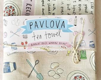Pavlova Tea Towel - The Prize Winning Recipe!