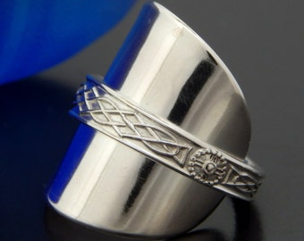 solid silver spoon thumb ring vintage sterling by spoonerizm