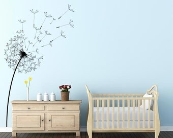 Blowing Dandelion Flower Wall Decal