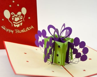 3D Cards - Birthday Card - Happy Birthday Card - Pop Up Card - 3D Birthday Card - Birthday Cake Card - Birthday - Paper Good