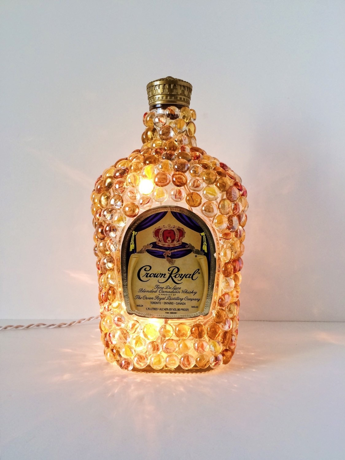 Crown Royal Whisky Bottle Light Whisky Bottle Filled With