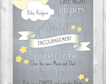 Custom Sign for Baby Shower / DIGITAL FILE /  printable / can be any size / wording can be changed