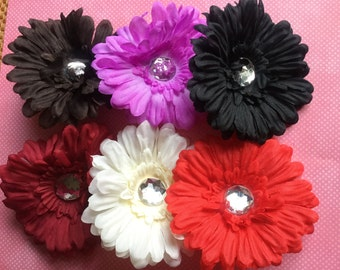 Gerber Daisy 1 One Flower Hair Clips for Baby Kids Adults, Baby Hair Clip, Baby Flower Clip, Daisy Flower, Daisy Flower Clip, Hair CliP