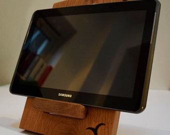 Hand Crafted Wooden Tablet Stand