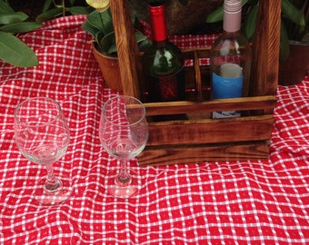 Wine caddy handcrafted from reclaimed wood #3