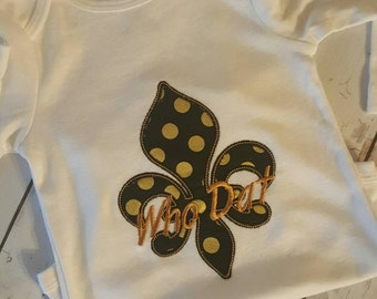 Fleur de lis/New Orleans Saints shirt/ who dat!