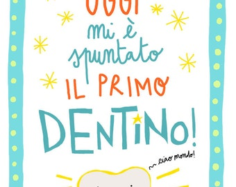 """Poster Printable """"my first tooth"""" digital file"""