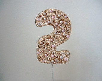 Birthday Number Two Cake Topper