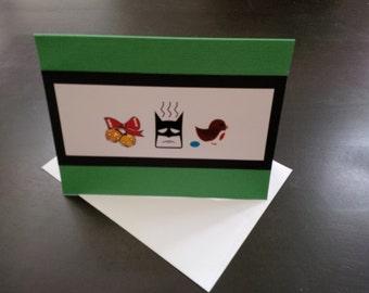 Jingle Bells, Batman Smells, Robin Laid An Egg Christmas Card
