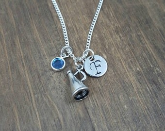 Personalized Cheerleader Necklace - Cheer Team Necklaces - Hand stamped Initial Necklace - Cheer Squad Necklaces