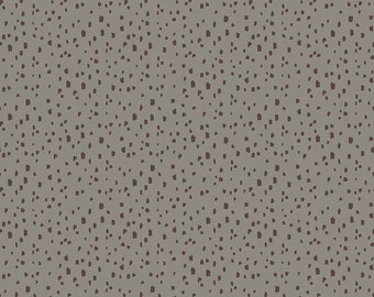 Knock on Wood by Riley Blake - Dot Dk Gray - Cotton Woven Fabric