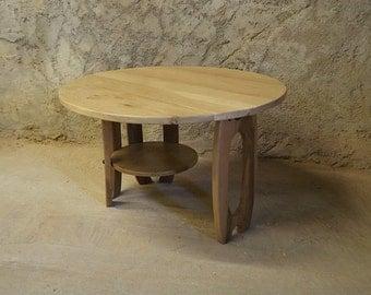 Coffee table in oak and Walnut