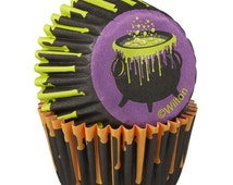100 Wilton Mini Baking Cups Halloween - Cupcake Liners Cauldron