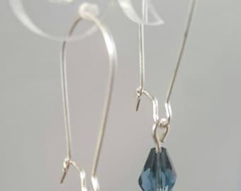Midnight blue teardrop earrings