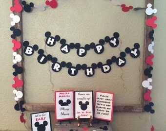 Mickey Mouse Birthday Party in a Box, Birthday Party Decorations