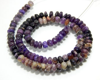 Charoite Smooth Beads Rondelle Shape Size 5.3x6.4 mm Approx New Arrival Wholesale Price.