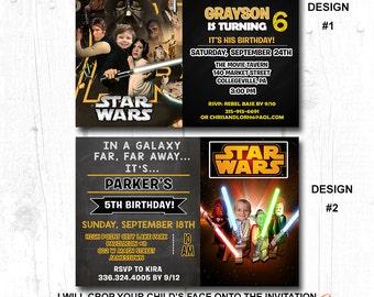 star wars printable party invitations, star wars personalized birthday invitation,