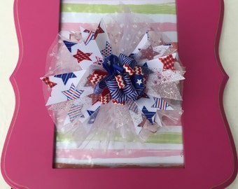 Frilly Fourth of July Bow