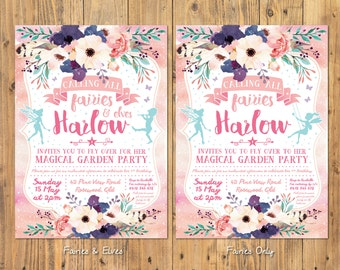 Fairies and Elves Party Invitation - Customized Digital Designs