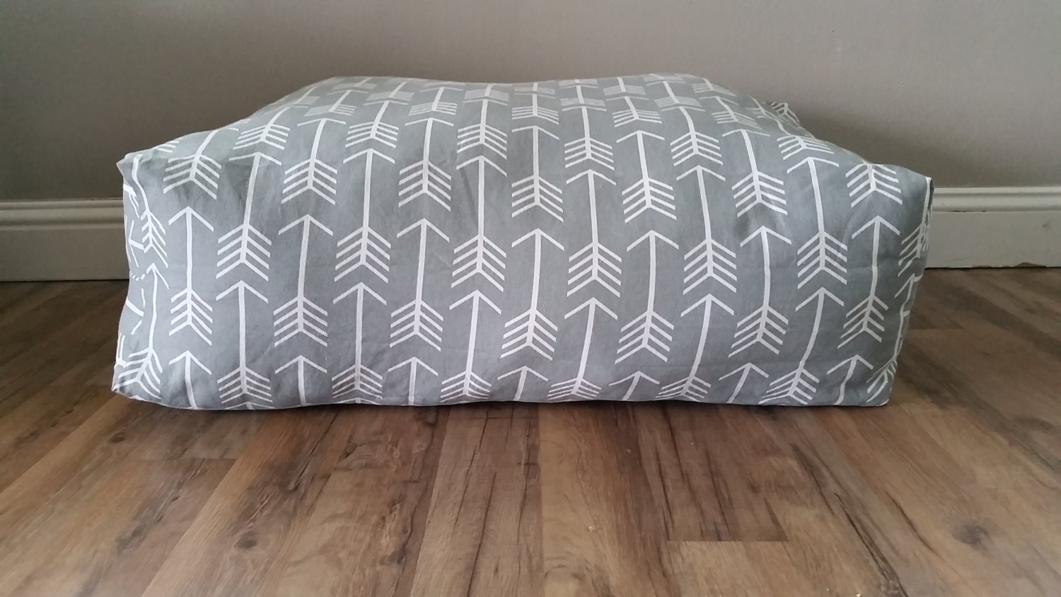 Floor Pillow Large Floor Pillow Pillow Pouf Grey Arrow