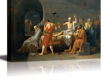 death of socrates by jacques louis david essay By viewing the painting the death of socrates by jacques-louis david, socrates'  loyalty to the athenian government was far more important to him than his own.