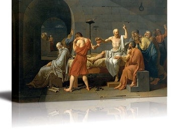 the death of socrates by jacques-louis david essay The death of socrates (french: la mort de socrate) is an oil on canvas painted by french painter jacques-louis david in 1787 the painting focuses on a classical.