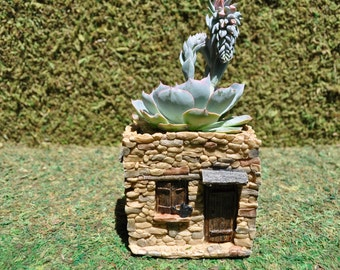 Fairy House Flower Pot