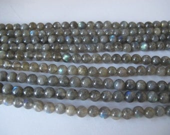 Natural Labradorite round beads, Labradorite Gemstones Beads, blue flash loose beads