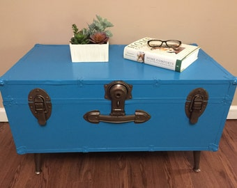 Trunk Coffee Table - Steamer Trunk - Side Table
