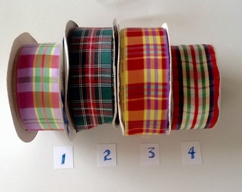 "Offray 1-1/2"" Plaid Ribbon"
