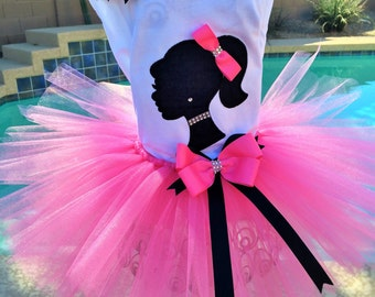 Glam Silhouette Girl tutu outfit/Halloween costume