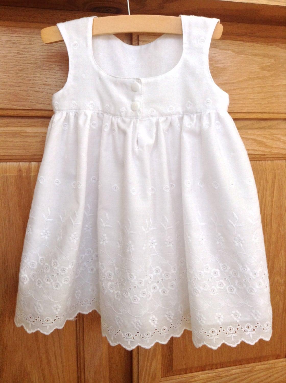 Baby White Dress Baby Cotton Eyelet Dress Baby White Cotton - photo#25