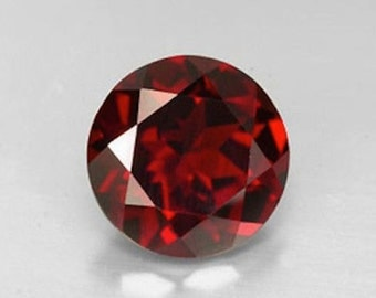 Cubic Zirconia AAA Rated Round Garnet Red CZ Loose Stones (1mm - 17mm)