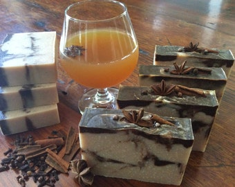 MULLED APPLE CIDER...vegan, a very gentle soap with fresh apple puree, shea butter, and rice bran oil