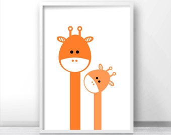 Giraffe Nursery Print, Kids Wall Art Printable, Animal Nursery Print, Kids Print, Printable Kids Gift, Nursery Art Printable, Nursery Decor