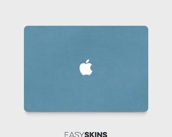 Blue Leather - MacBook Pro Skin | MacBook Air Sticker | Laptop Skin | MacBook Decal | Laptop Sticker | Easy Skins
