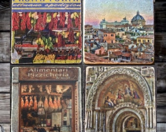 City Life in Florence Tile Set x4