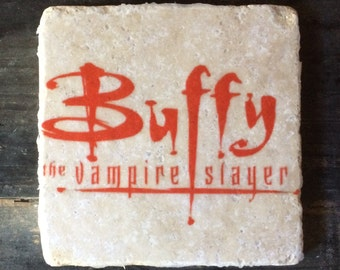 Buffy the Vampire Title Coaster or Decor Accent