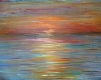 Sunset Painting, Canvas Art, Acrylic Painting, Contemporary Art, Large Painting, Abstract Sunset, Original Canvas Art