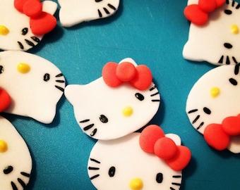 Hello Kitty Fondant Cupcake Topper