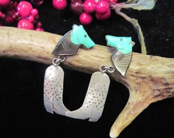 Whimsical Horse and Cowboy Boot Earrings !